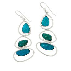 Jay King Gallery Collection Sonoran Blue Turquoise Drop Earrings