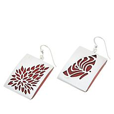 Jay King Gallery Collection Sterling Silver Red Coral Drop Earrings