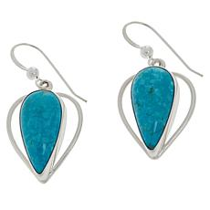 Jay King Gallery Collection Sterling Silver Turquoise Heart Earrings