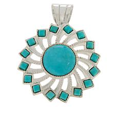 Jay King Gallery Collection Sterling Silver Turquoise Pinwheel Pendant