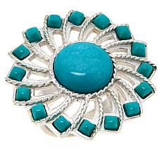 Jay King Gallery Collection Sterling Silver Turquoise Pinwheel Ring