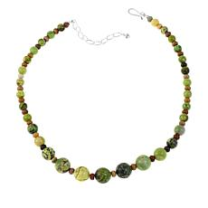 "Jay King Green Jasper and Agama Stone 18"" Necklace"