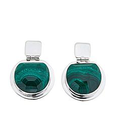 Jay King Green Malachite Sterling Silver Earrings