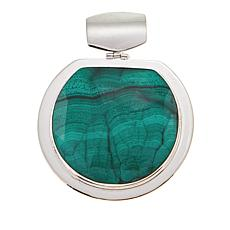 Jay King Green Malachite Sterling Silver Pendant
