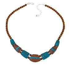 "Jay King Iron Mountain and Azure Peaks Turquoise 18"" Necklace"