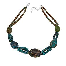 "Jay King Iron Mountain and Hubei Turquoise 20"" Necklace"