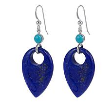 Jay King Lapis and Turquoise Sterling Silver Earrings