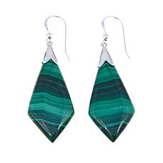 Jay King Malachite Kite-Shaped Drop Earrings