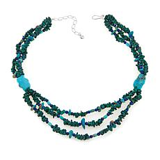 "Jay King Malachite, Lapis and Turquoise 18"" Necklace"