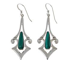 Jay King Malachite Sterling Silver Drop Earrings
