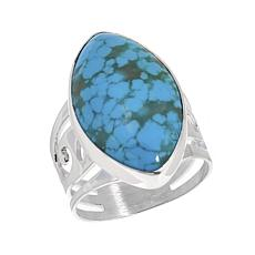 Jay King Marquise-Shaped Sonoran Blue Turquoise Sterling Silver Ring