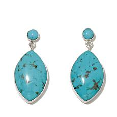 Jay King Marquise Turquoise Sterling Silver Earrings