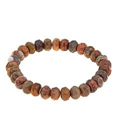 Jay King Mixed Petrified Wood Beaded Stretch Bracelet