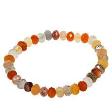 Jay King Multi-Colored Medley Quartzite Bead Stretch Bracelet