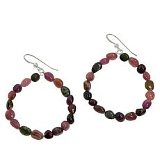 Jay King Multi-Colored Tourmaline Hoop Drop Earrings