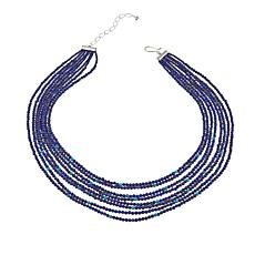 "Jay King Multi-Strand Turquoise and Lapis Bead 18"" Necklace"