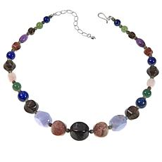 "Jay King Multicolor Multigemstone Bead 18"" Necklace"