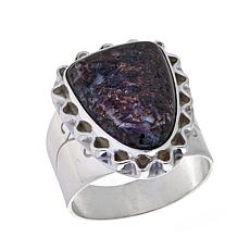 Jay King Multicolored Astrophyllite Ring