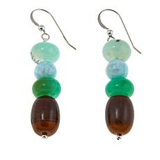 Jay King Multigemstone Bead Drop Sterling Silver Earrings