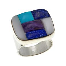 Jay King Multigemstone Inlay Sterling Silver Ring