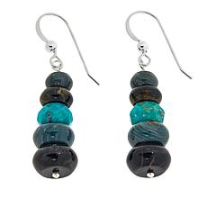 Jay King Multistone Rondelle Drop Earrings
