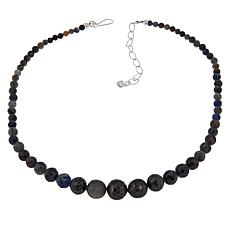 Jay King Mwezi Moon Blue Sapphire Bead Necklace