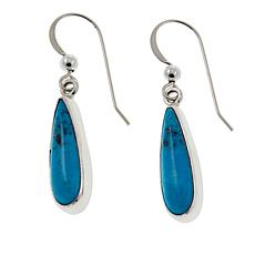 Jay King Nako Turquoise Teardrop Sterling Silver Earrings