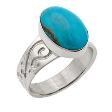 Jay King Oval Andean Blue Turquoise Sterling Silver Ring