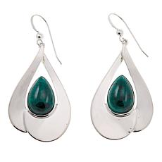 Jay King Pear-Shaped Chrysocolla Drop Sterling Silver Earrings