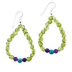 Jay King Peridot Nugget and Gemstone Drop Earrings