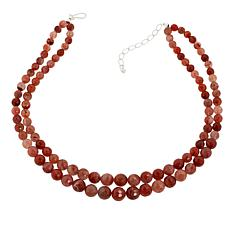 "Jay King Picante Agate Bead 18"" Necklace and Earrings Set"