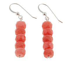 Jay King Pink Sea Bamboo Coral Bead Drop Sterling Silver Earrings