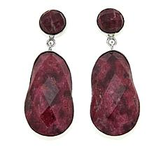 Jay King Pink Thulite Drop Sterling Silver Earrings
