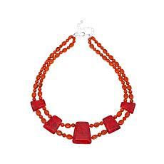 "Jay King Red and Orange Coral 17"" Necklace"