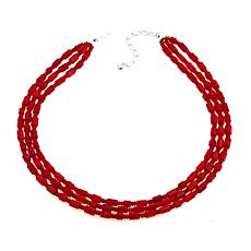"Jay King Red Sea Bamboo Coral 18"" Necklace"