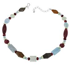 Jay King Red Thulite and Multi-Gemstone Beaded Necklace