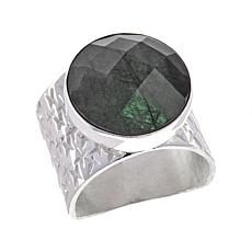 Jay King Round Labradorite Sterling Silver Ring