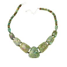 Jay King Ruby in Fuchsite Beaded Necklace