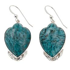 Jay King Smoky Graphical Amazonite Drop Sterling Silver Earrings