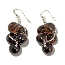 Jay King Smoky Quartz Cluster Drop Earrings
