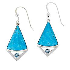 Jay King Sonoran Blue Turquoise and Blue Topaz Drop Earrings