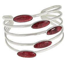 Jay King Sterling Silver 5-Gemstone Cuff Bracelet