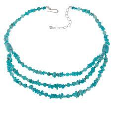 Jay King Sterling Silver Amazonite Beaded Necklace