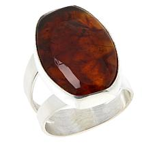 Jay King Sterling Silver Amber Ring