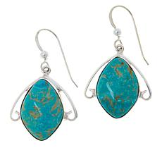 Jay King Sterling Silver Andean Blue Turquoise Drop Earrings