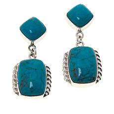 Jay King Sterling Silver Angel Peak Turquoise Drop Earrings
