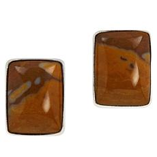 Jay King Sterling Silver Autumn Chalcedony-Opal Stud Earrings