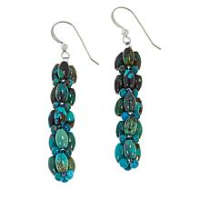 Jay King Sterling Silver Azure Peaks Turquoise Bead Woven Earrings
