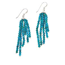 Jay King Sterling Silver Azure Peaks Turquoise Beaded Tassel Earrings
