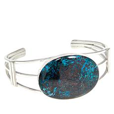 Jay King Sterling Silver Blue Forest Stone Cuff Bracelet